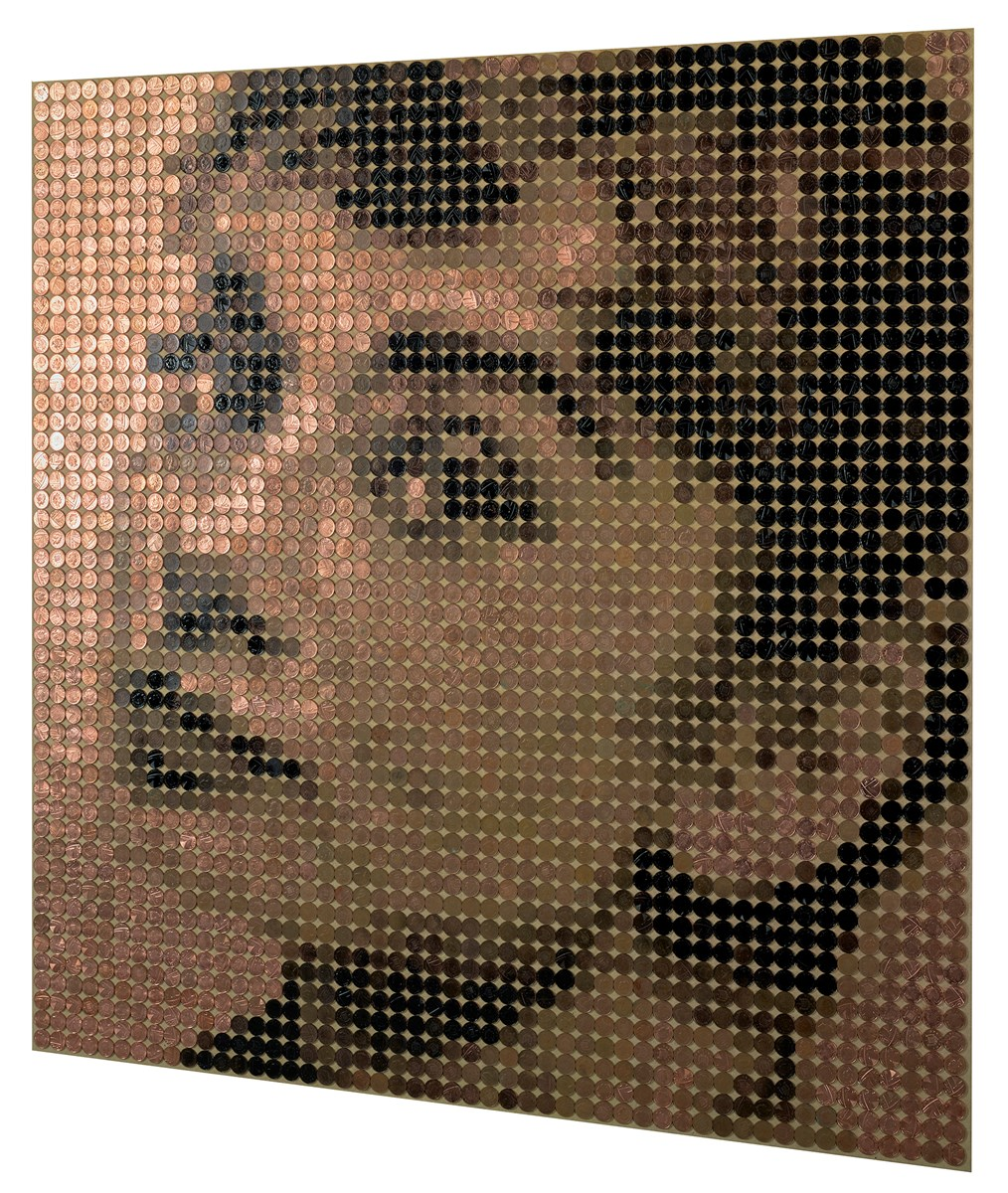 Audrey Hepburn II by ed chapman -  sized 41x41 inches. Available from Whitewall Galleries